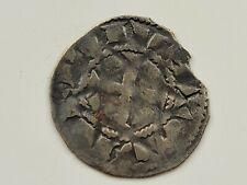 Medieval French Deols AR Denier. 1100-1200 AD. VF