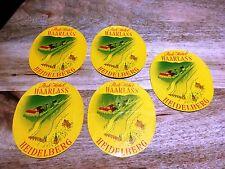 PARK HOTEL-HAARLASS-HEIDELBERG-Vintage LUGGAGE LABELS Decals-Trunk Stickers x 5.