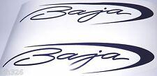 "BAJA12 x 2.5"" correct BAJA BOAT DECALS 2 decals - dark blue"