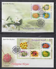 Philippine Stamps 2011 Philippine Hoyas (Flowers) Complete on First Day Covers