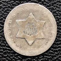 1851 O Three Cent Piece Silver Trime 3c Circulated RARE #17462