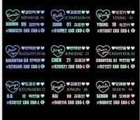2019 New Kpop EXO Laser Sticker SEHUN BAEKHYUN YIXING Phone Case Stickers
