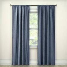 "Room Essentials Light Blocking Navy Curtain Panel 42 x 63"" Blue New Open Package"