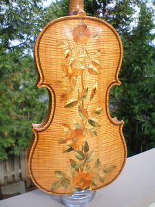 1903 W.R. MCCORD INLAID VIOLIN - OREGON MUSIC HISTORY!!