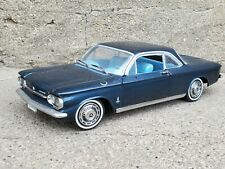 Sun Star 1963 Chevy Corvair 1:18 Scale Diecast Model Car Blue Missing Mirror