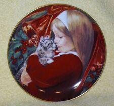 """Christmas Tear"" Vintage 8.5"" Hackett Amer 1981 Plate By Artist Violet Parkhurst"