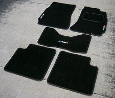 Black SUPER VELOUR Car Mats - Nissan Skyline R34 (98-02) + Nismo Logos (x3)