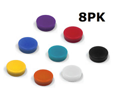 8X MIX COLOURED Neo Disc D12X6mm Push Pin Magnets Fridge Whiteboard Memo Board