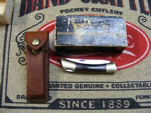 vintage BROWNING usa made folding pocket knife un used