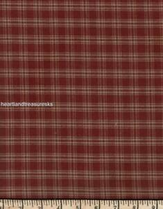 Dunroven House H-31 Country  Red ~ Wheat Plaid  Homespun Fabric ~ You Pick