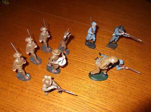 Masse Soldaten WK II, Elastolin, Lineol, Duro, NB, Engländer, Franzosen, Belgier