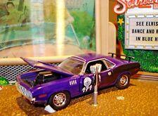 1971 71 PLYMOUTH BARRACUDA 426 HEMI LIMITED EDITION 1/64 M2 PLUM CRAZY RALLY CAR