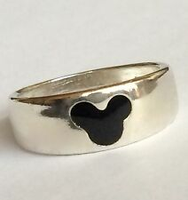Mickey Mouse Ears Disney Sterling Silver Ring Band Stores Vintage 925 Size 8 USA