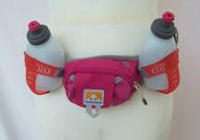 NATHAN Hydration Belt  XL 2 Bottle Shock Cords 2 Pouch Stretch NEW Trail Mix NWO
