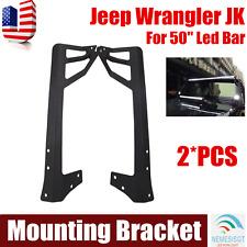 Upper Roof Mounting Bracket 07-17 Jeep Wrangler JK For 50inch Led Work Light Bar