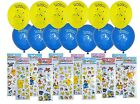 Pokemon balloons and stickers (24 pieces) Pikachu Meowth Party Decoration loot