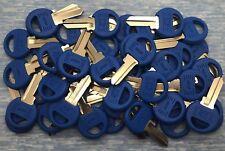 M1 - P (Blue) Master 4-Pin Padlock Key Blanks for Locksmith - 50 pcs Lot