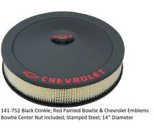 Proform 141-752: Black Crinkle; Red Painted Bowtie & Chevrolet Emblems