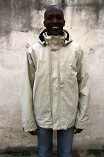 Timberland Waterproof Hooded Jacket Coat Beige + Removable fleece lining 2 in1 L