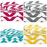 Chezmoi Collection Printed Chevron Zig Zag Soft Microfiber Sheet Set All Sizes