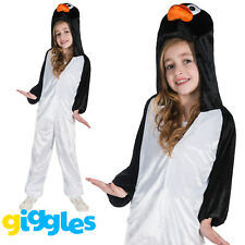 Girls & Boys Penguin Costume World Book Day Week Fancy Dress Outfit Jumpsuit