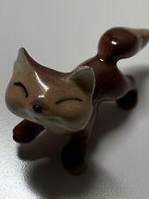 Fox Ceramic Figurine Miniature Vintage