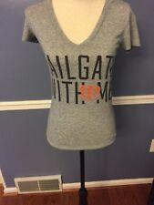 "Cincinnati Bengals Victoria's Secret PINK ""TAILGATE WITH ME"" Vneck Tee Shirt XS"
