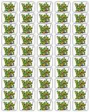 """50 Teenage Mutant Ninja Turtles Envelope Seals / Labels / Stickers, 1"""" by 1.5"""""""