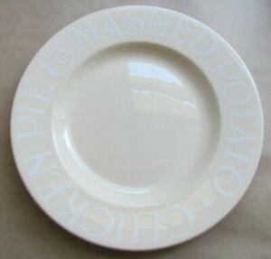 "EMMA BRIDGEWATER WHITE TOAST 10¾"" DINNER PLATE (Ref6704)"