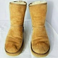 UGG Australia Classic Short 5825 Women's chestnut SUEDE SHEEPSKIN BOOTS SIZE 6