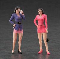 1/24 70mm Resin Figure Model Kit Two Sexy Modern Girls Classy Women Unpainted