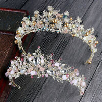 EG_ CN_ Baroque Wedding Headdress Rhinestone Crown Hair Jewelry Bridal Tiara Cha