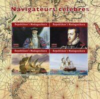 Madagascar Ships Stamps 2020 MNH Vasco da Gama Francis Drake Explorers 4v M/S