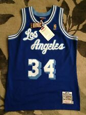 Authentic 96-97 Shaquille Oneal Mitchell & Ness Hardwood Classic Jersey Blue 5XL