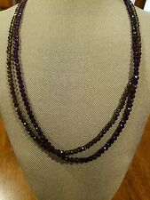 14k gold Smokey and purple quartz necklaces 24 inch each , 4mm beads