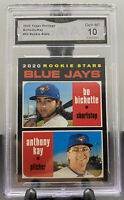 2020 TOPPS HERITAGE BLUE JAYS BO BICHETTE ROOKIE STARS CARD #52 GMA 10 Gem Mint