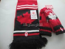 2018 PyeongChang Olympic Team Canada Hudson's Bay CANADA Game Scarf Red Mittens