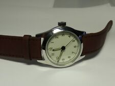 Vintage Men's Pilot Wind up Watch W/ Leather Band