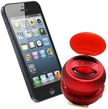 XMI X-mini V1.1 Capsule Speaker for iPhone iPad 2/3 iPod Mp3 and Laptop - Red