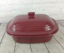 New listing Pampered Chef Covered Baker Casserole & Lid Cranberry Stoneware 3.1 Qt Cookware