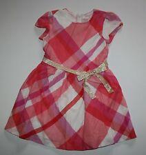 New Gymboree Red Pink White Plaid Dress Size 8 year NWT Woodland Wonder Line