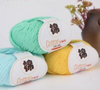 Warm Cotton Organic Yarn Baby Wool For Knitting Crochet Tools 50g Dyed Accessory
