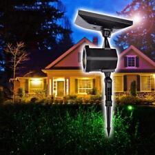Proiettore Luce Laser Led Natale Facciata CHRISTMAS con Pannello Solare Light t1