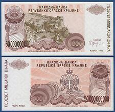 Croatia/krajina 50.000.000.000 dinara 1993 UNC without serial p. r29