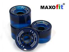 """MAXOfit® Longboardrollen """"Big Boy"""" Blau 76mm Durchmesser"""