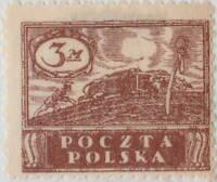 POLOGNE / POLAND - 1919 - Mi.113zl p.11-1/2 3M Red-Brown - Mint*