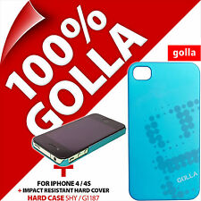 Golla Custodia Rigida Cover Posteriore Protettiva Opaco Turchese per Apple iPhone 4/4s