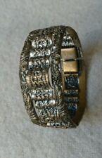Antique Victorian Silver Guild on brass Bracelet 5½cm Diameter