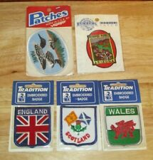New ListingNew Collectable Lot of 5 Tourist Patches Vtg Maine Az England Scotland Wales