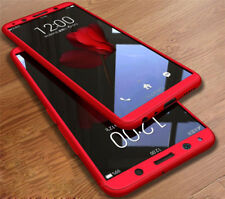 360° Full Hybrid Case Cover+Tempered Glass Cover For OPPO F5 F7 R7 R9 R11S Plus